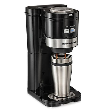 bed bath coffee maker hamilton beach 174 grind and brew single serve coffee maker
