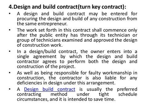design build contract ccdc types of contracts