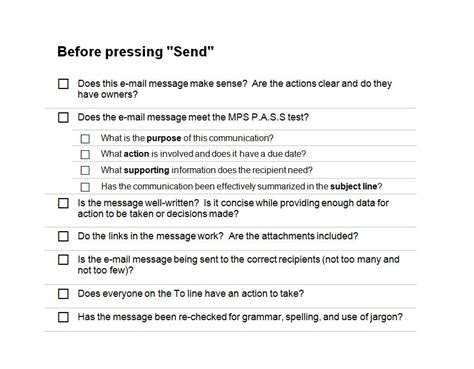 email checklist template email marketing checklist email marketing template