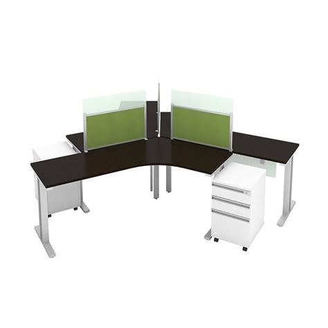 bush bbf momentum 3 person workstation with storage in