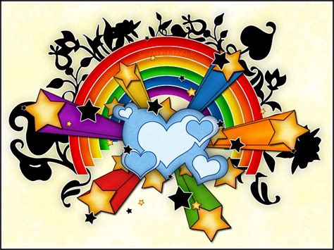 Colorful Stars And Hearts | Clipart Panda - Free Clipart ... Graffiti Wallpaper Love Rainbow