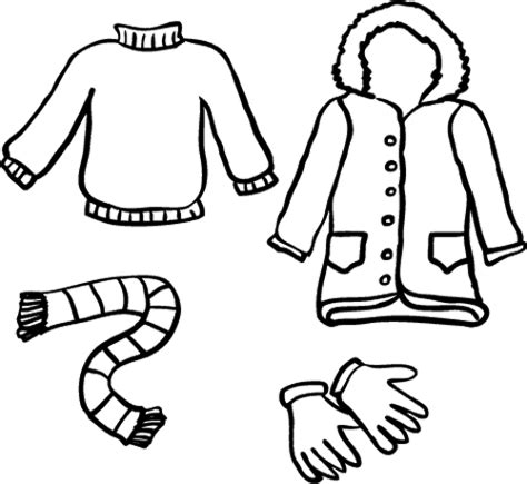 winter coloring pages gloves winter clothes coloring