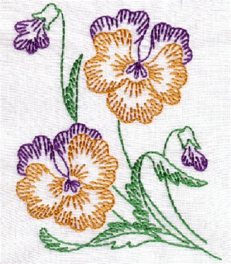 Oregon Patchwork Machine Embroidery Designs - a flower a day 5x7 oregonpatchworks