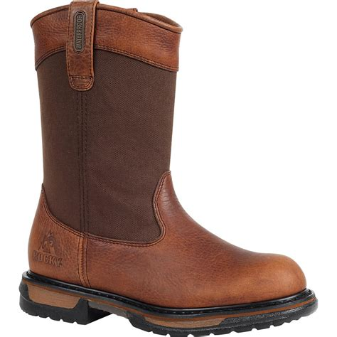 rocky work boots for 11 quot rocky ironclad s brown wellington waterproof work