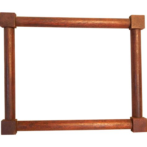 corner frame antique small corner block walnut picture frame from