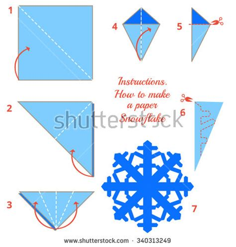 To Make A Paper Snowflake - visual diy made of craft how to make
