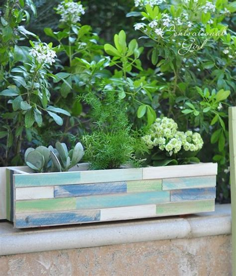 wooden window box planters wood shim window box planter
