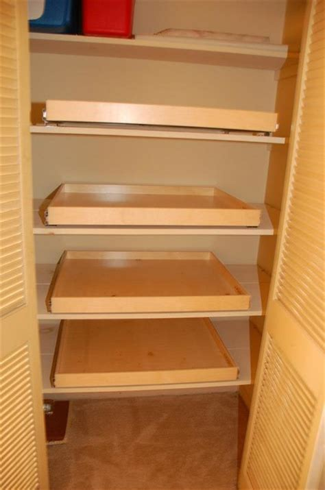 Pull Out Closet Storage by Pull Out Shelves For Your Linen Closet Closet Organizers Louisville By Shelfgenie Of Kentucky
