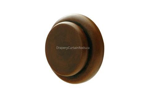 Drapery Sconce Antique Walnut Decorative Iron Curtain Rod End Caps Wec Aw