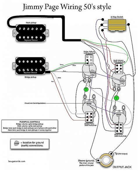 jimmy page les paul wiring diagram wiring diagram with