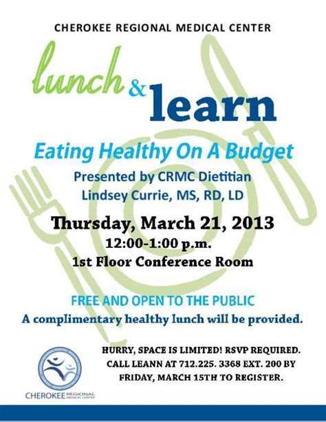 lunch and learn template lunch and learn flyer siouxcityjournal