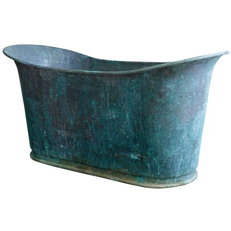 antique copper bathtub very rare antique copper bathtub quot bain bateau quot at 1stdibs