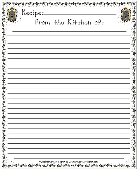 page editable from the kitchen of recipe card template page recipe template for word template business