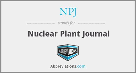 nuclear design journal npj nuclear plant journal