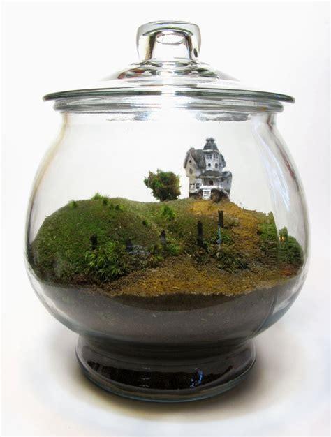 diy miniature greenhouse terrarium centerpiece nicole porter