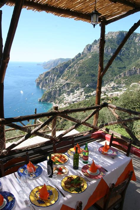 best restaurants in positano italy restaurant with panoramic view and food in