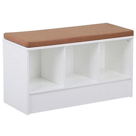 white shoe bench with cushion yaheetech white 3 cube shoe storage bench with removable