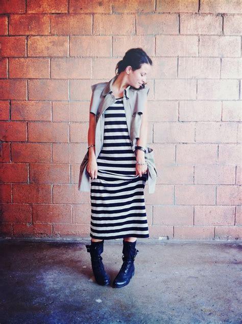 Striped Army Look Dress shauna aliza club monaco army vest forever 21 striped
