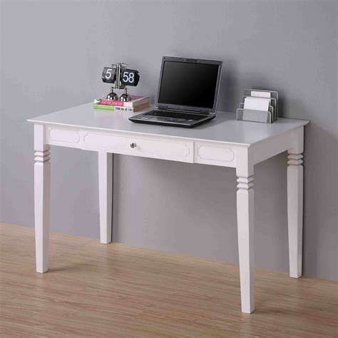 Walker Edison Elegant Wood Desk White At Hayneedle White Wood Desks