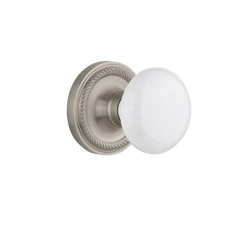 interior door knobs home depot nostalgic warehouse rope rosette interior mortise white
