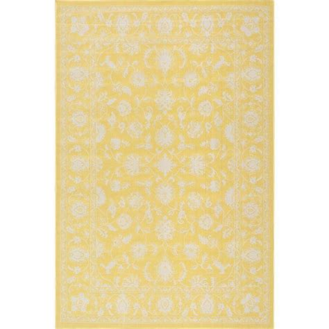 Nuloom Pridgen Yellow 5 Ft X 7 Ft 6 In Indoor Outdoor Yellow Indoor Outdoor Rug