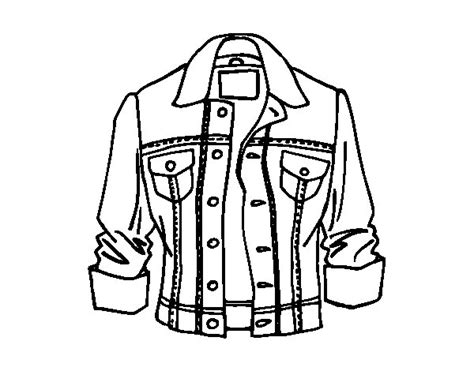 printable coloring page of a jacket jacket coloring page coloringcrew com