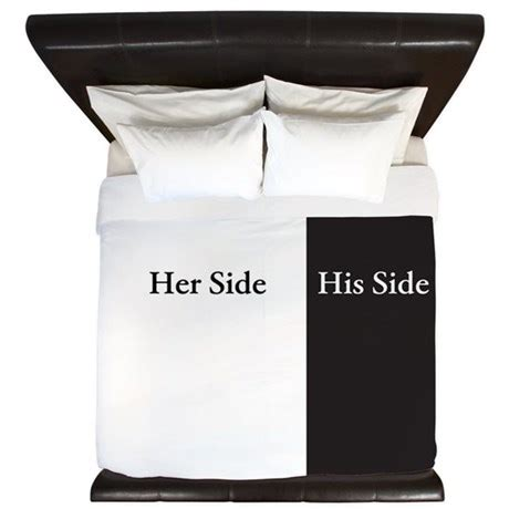 his and her side of the bed his end her side of the bed king duvet by hersideofthebed