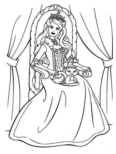barbie cat coloring pages princess cat coloring page coloring home