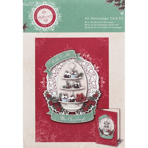 Decoupage Craft Supplies - papermania bellissima a5 decoupage card kit