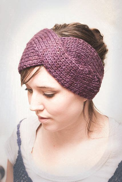 twist headband knitting pattern parisian twist headband ear warmer pattern by elisa