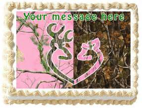 pink camo decorations pink camo tree buck and doe edible image cake topper