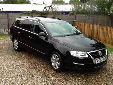 volkswagen car black volkswagen passat estate 2 0tdi 07 reg black car for sale
