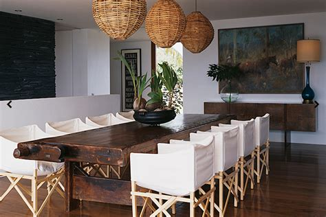 canvas slipcovered dining chairs eclectic dining room