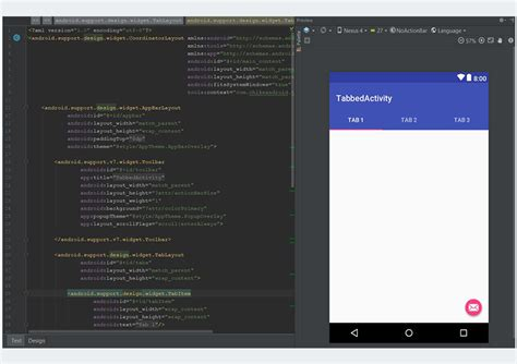android studio gui tutorial create a material design tabbed interface in an android app