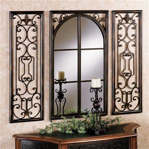 Provence Bronze Finish Wall Mirror Set Decor Wall Mirrors