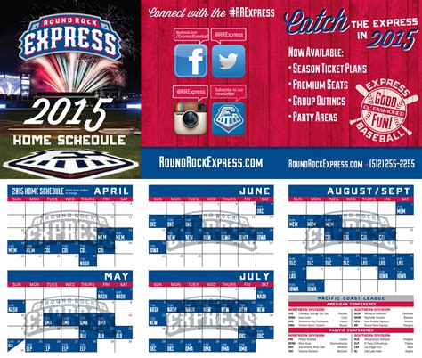 Round Rock Express Announces 2016 Home Schedule   u of l home game schedule free software and shareware