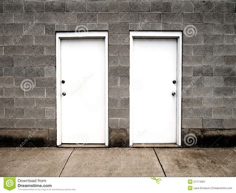 Two Door by Two Doors Representing Choices Stock Illustration Image 21774301