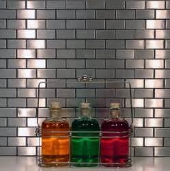 Metal Kitchen Backsplash Tiles Tile Backsplash Ideas Metal Tile Metal Subway Tile