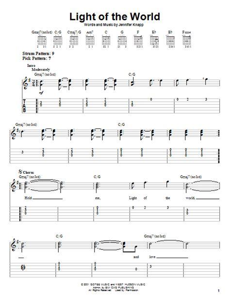 light of the world chords light of the world by jennifer knapp easy guitar tab