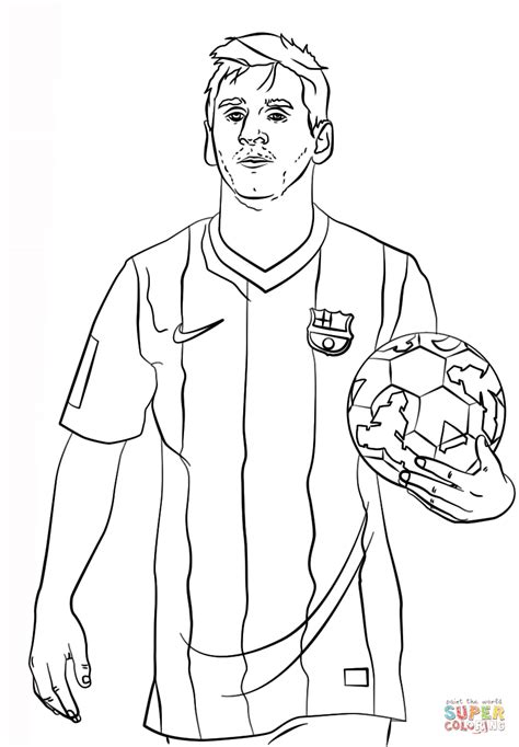 Messi Coloring Pages lionel messi coloring page free printable coloring pages