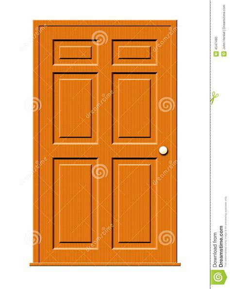 free doors wood door illustration stock illustration image of