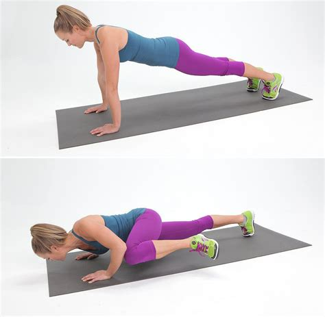 Push Up 8 spider push up popsugar fitness