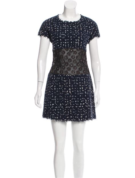 Camelia Dress chanel camellia tweed dress clothing cha200108 the realreal