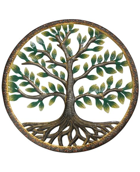 tree symbolism colorful tree of life fair trade metal art 23 x 23 inches