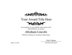 Free Printable Blank Award Certificate Templates by Award Word Template Masir