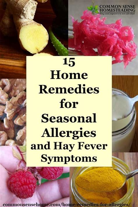 17 best ideas about home remedies for allergies on