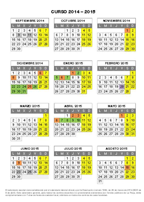 Calendario Escolar Madrid Semana Santa 2015 Educaci 211 N F 205 Sica Calendario Escolar