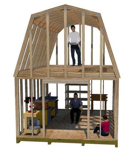 wide gambrel truss plans  build