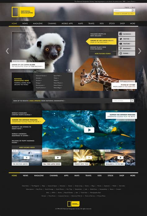 ucreative com national geographic rebranding project by