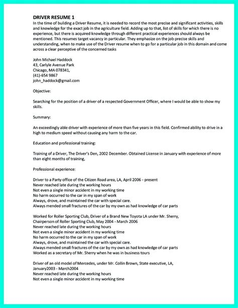 cdl class a truck driver resume sle simple but serious mistake in cdl driver resume
